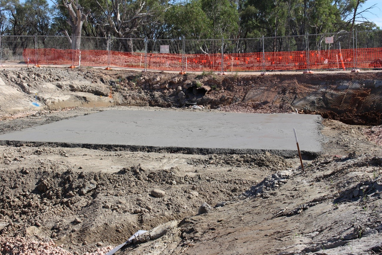South Arm Road Crossing – base slab down